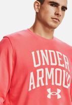 Under Armour - Ua rival terry crew - venom red / onyx white
