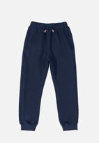 Quimby - Sweatpants with quilted details - navy