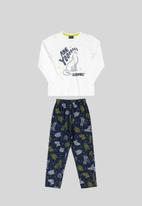 Quimby - Boys printed pyjama set - white & navy