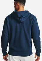 Under Armour - Ua rival fleece fz hoodie - academy / onyx white