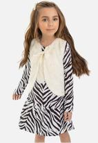 Quimby - Girls faux fur vest - off white