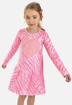Quimby - Girls brushed jersey dress - pink