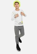 Quimby - Boys long sleeve single jersey tee - white