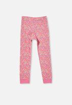 Cotton On - Florence long sleeve pyjama set - floral mane unicorn / crystal pink