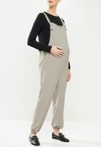 Superbalist - Woven tie strap dungaree - taupe