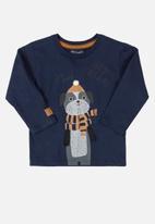 Quimby - Boys single jersey T-shirt - navy