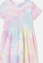 Cotton On - Freya short sleeve dress / rainbow tie dye