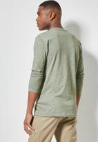 Superbalist - Nate long sleeve recycled graphic tee - green