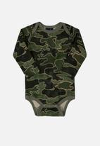 Quimby - Baby boys single jersey bodysuit - green