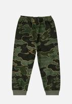 Quimby - Baby boys single jersey pants - green