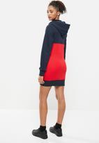 Aca Joe - Colourblock dress - navy & red