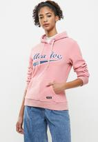 Aca Joe - Polar fleece pullover hoodie - pink