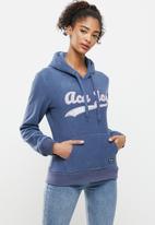 Aca Joe - Polar fleece pullover hoodie - blue