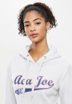 Aca Joe - Polar fleece pullover hoodie - grey