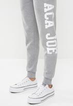 Aca Joe - Logo joggers - grey melange