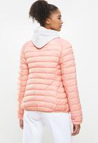 Aca Joe - Zip thru puffer jacket - pink