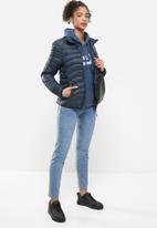 Aca Joe - Zip thru puffer jacket - navy