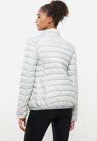 Aca Joe - Zip thru puffer jacket - light grey