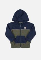 Quimby - Baby boys hoodie - dark blue