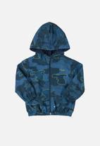 Quimby - Baby boys woven windbreaker jacket - blue
