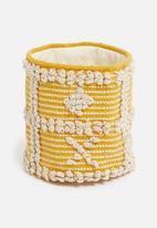 Sixth Floor - Sonny woven basket - yellow