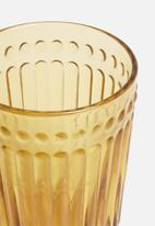 Sixth Floor - Water glass set of 6 - amber