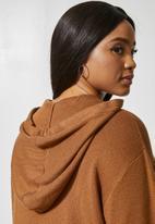 Superbalist - Knitwear hoodie - tobacco