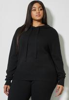 Superbalist - Knitwear hoodie - black
