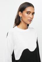 Me&B - Colourblock jumper - black & white