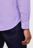 Ben Sherman - Small ging shirt - purple