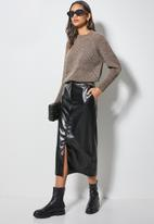 Superbalist - Pu pencil skirt - black