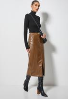 Superbalist - Pu pencil skirt - tan