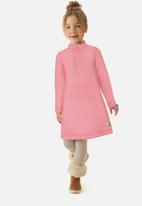 UP Baby - Girls quilted dress - pink