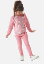 UP Baby - Girls sweatshirt & leggings set - pink