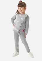 UP Baby - Girls sweatshirt & leggings set - grey