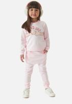 UP Baby - Girls sweat top & sweatpants set - light pink