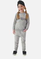 UP Baby - Girls sweat top & sweatpants set - grey