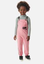 UP Baby - Girls dungaree & jersey set - pink