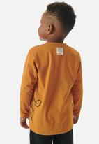 UP Baby - Boys graphic tee  - brown