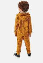 UP Baby - Boys sweatshirts & sweatpants set - dark orange