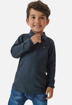 UP Baby - Boys long sleeve golfer - dark blue