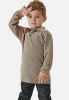 UP Baby - Boys long sleeve golfer - light brown