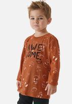 UP Baby - Boys awesome tee - dark orange