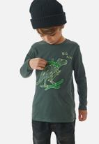 UP Baby - Boys big dino tee - green