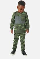 UP Baby - Boys dino sweatshirt & sweatpants set - green