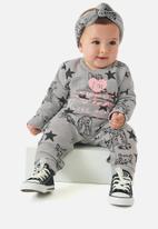UP Baby - Girls fashion romper - grey
