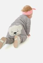 UP Baby - Girls quilted jacket & pants set - grey