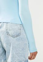 Missguided - Funnel neck top - blue