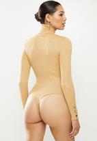Missguided - Roll neck bodysuit - camel