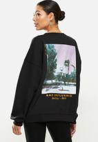 Missguided - Bad influence graphic sweatshirt - black